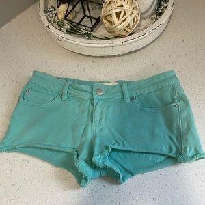 Teal Jean shorts